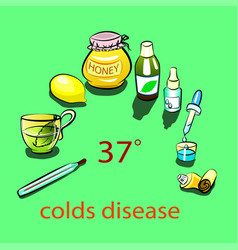 colds disease vector image
