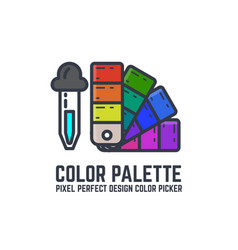 Color swatch palette vector
