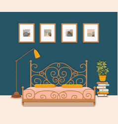 colorful of hotel apartment furniture vector image
