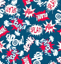 Comic book action words seamless pattern vector