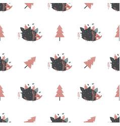 cute seamless pattern scandinavian style vector image