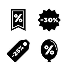 discount tags simple related icons vector image