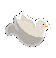 dove first communion icon vector image
