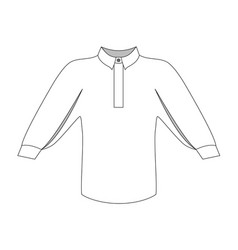 Fashion women technical sketch blouse in vector