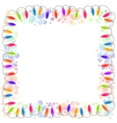 Festive blank frame with garland vector