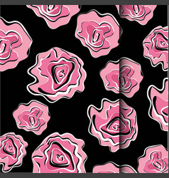 flower motif sketch for design vector image