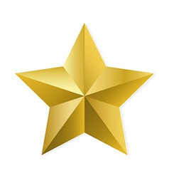 Gold star isolated object vector