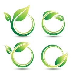 Green labels vector image