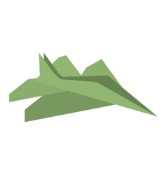 Green paper plane toy entertain vector