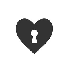 heart keyhole love icon vector image