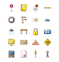 icon set page not found vector image
