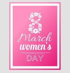 international women day holiday on eight of march vector image