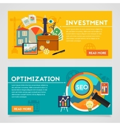 Investment and Optimization Concept Banners vector image