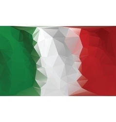 Italian flag Polygonal colorful flag vector