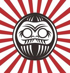 japan warrior doll vector image