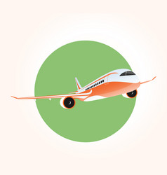 jet airplane flying in sky vector image