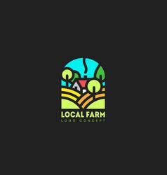 Local farm logo vector