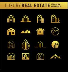 Luxury real estate logo mega pack vector