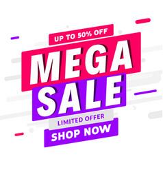 mega sale banner template design big sale special vector image
