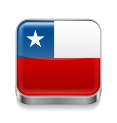 Metal icon of Chile vector image