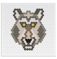 Mosaic Wolf vector image