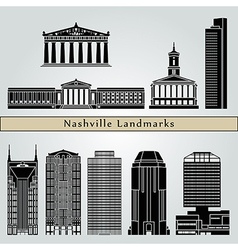 Nashville landmarks and monuments vector image