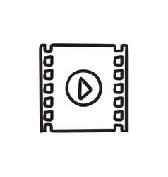 Negative sketch icon vector