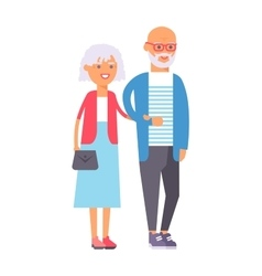 Old couple people vector