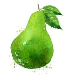 PEAR logo design template fruit or food vector image