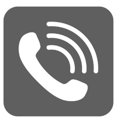 Phone Call Flat Squared Icon vector