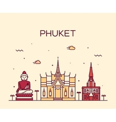 Phuket Trendy linear style vector image