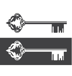 Realty logo decorated key vector