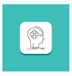 Round button for advanced cyber future human mind vector