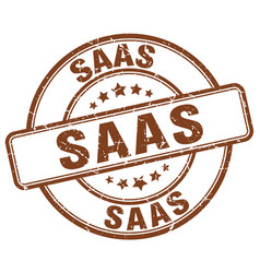 Saas brown grunge stamp vector