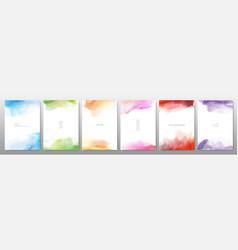 Set bright colorful watercolor vector
