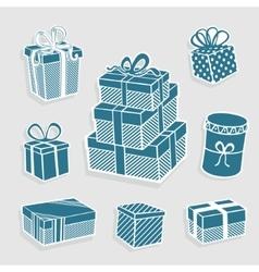Set gift symbol vector