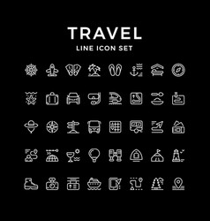 set line icons travel vector image