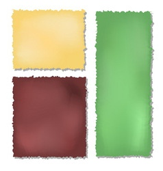 Set of colour grunge papers background vector
