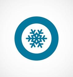 Snowflake bold blue border circle icon vector