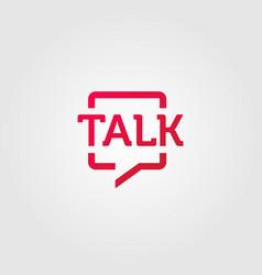 talk logo square symbol icon design vector image