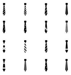 Tie icon set vector