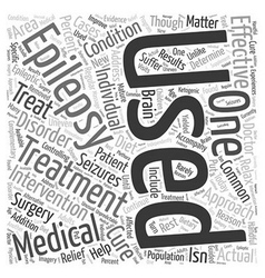 Treatments for epilepsy Word Cloud Concept vector