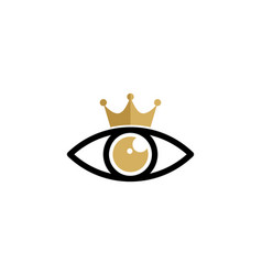 vision king logo icon design vector image