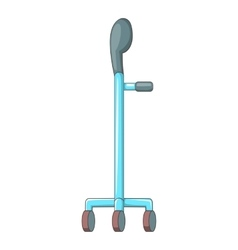 Walking cane icon cartoon style vector