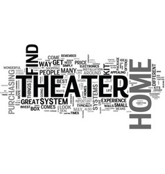 why buy home theater kits text word cloud concept vector image