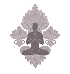 yoga and pray vector image