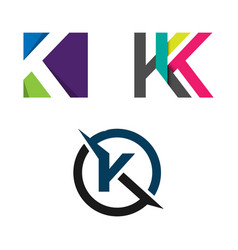 abstract letter k logo concept vector image