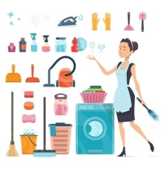 Cleaning Elements Collection vector image vector image