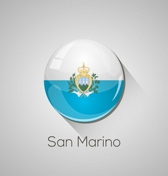 European flags set - San Marino vector image vector image