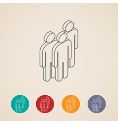 isometric icons of people group vector image vector image